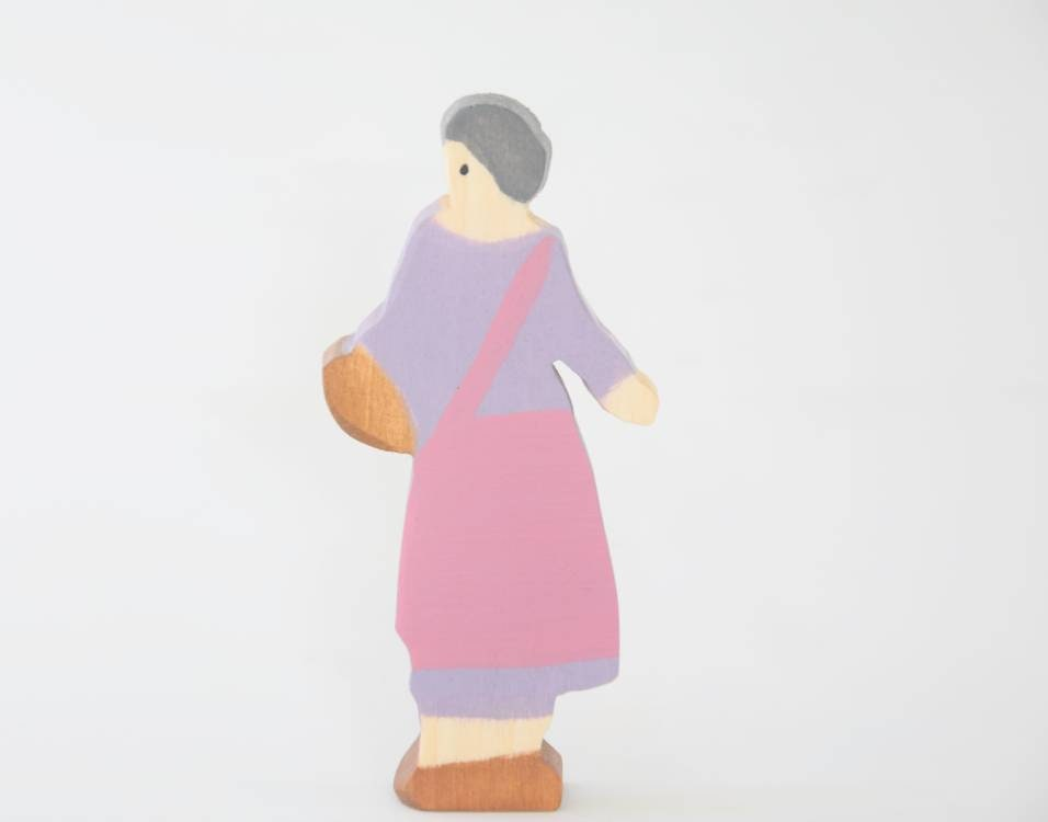 Farm woman, people figurines, wooden people toy, waldorf inspired, montessori, imaginative play, open ended play, wooden people figurine