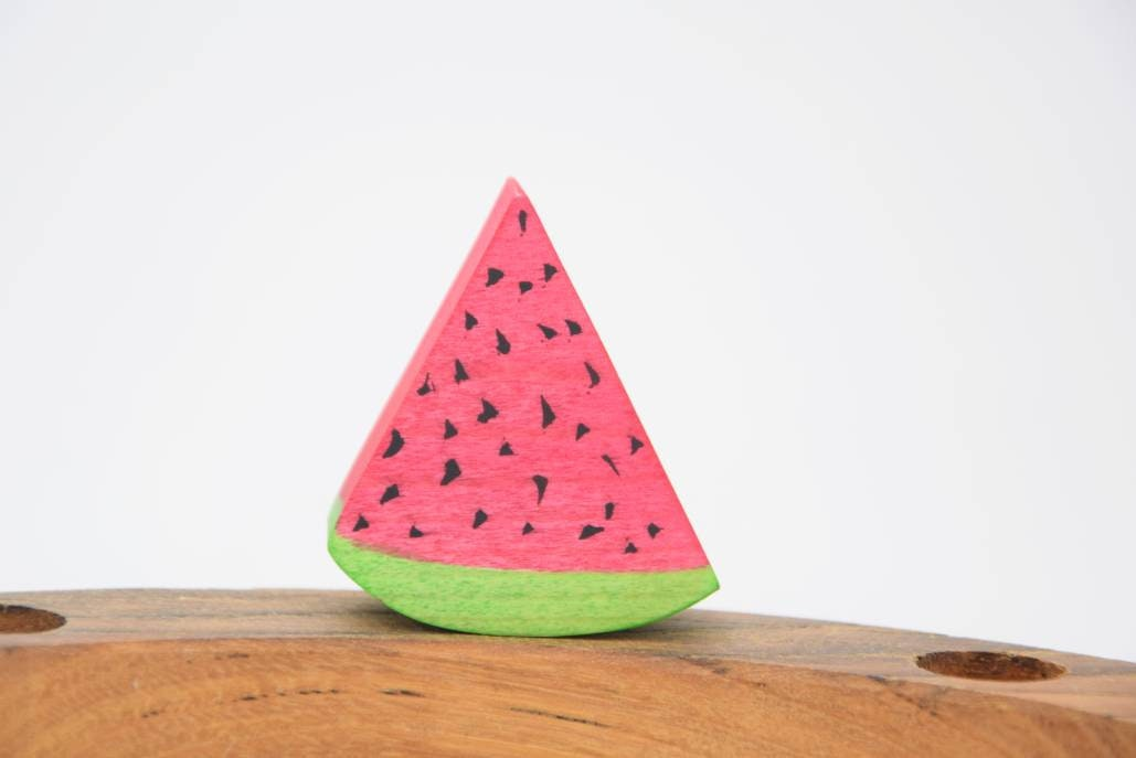 watermelon birthday ring ornament, waldorf ring ornament, celebration ring, birthday ring decoration, water melon birthday decoration