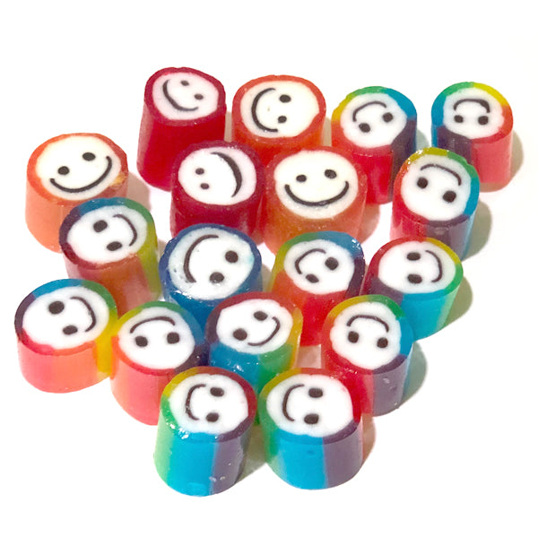 Smiley Face Rock Candy