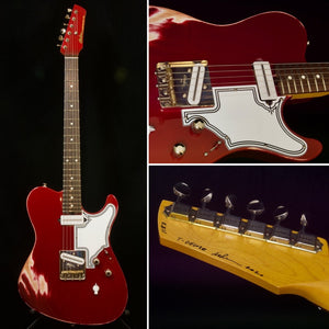 SOLD 2020 Asher T Deluxe Candy Cane Relic Vintage Series with our T Blade Pickups and Demeter Mid Boost