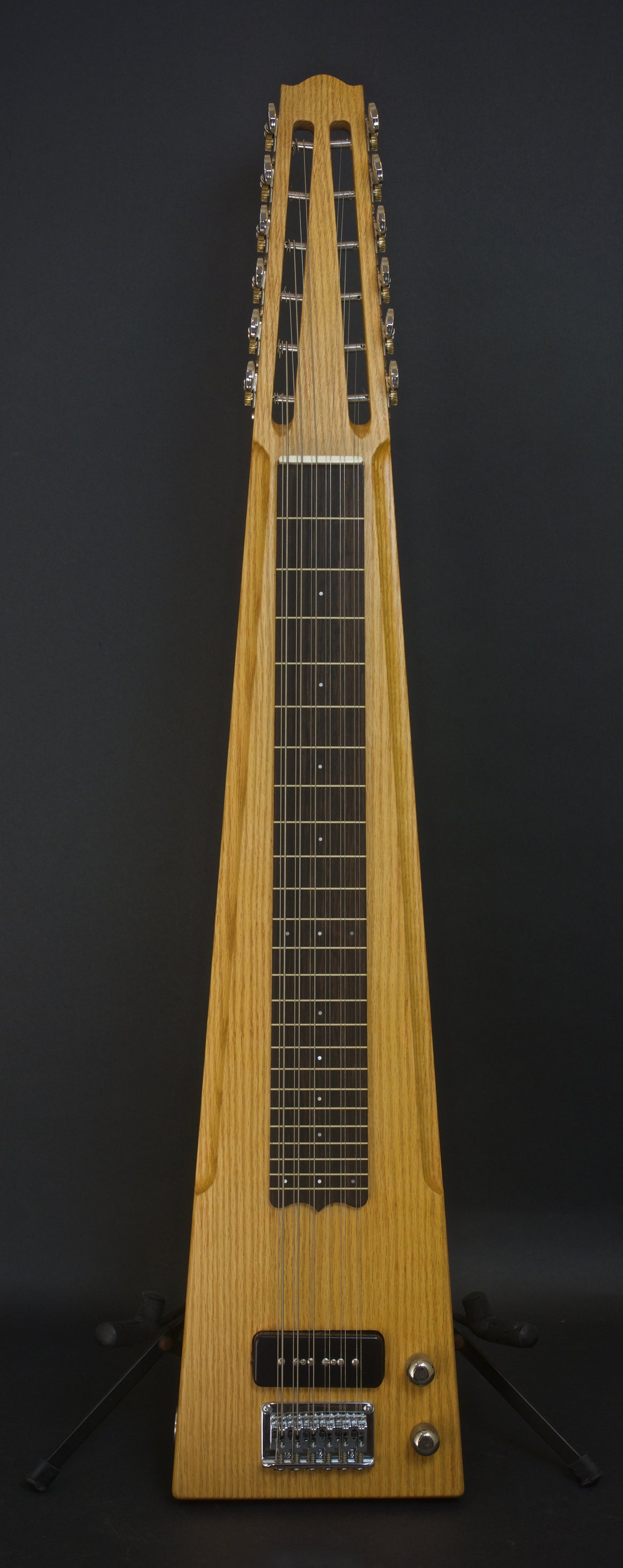 SOLD 2018 Asher Electro Hawaiian 12-String Lap Steel Custom Shop, Red Oak, #1105, #2 of 2
