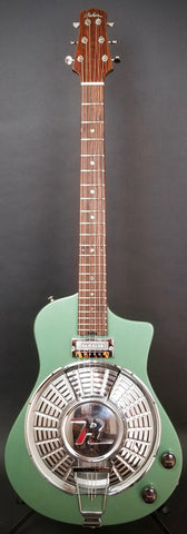 2018 Asher Resosonic Rambler with Handcut Original 58 Rambler Hubcap, Mystic Green Metallic, #1069
