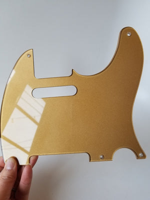 Gold Acrylic Tele Pickguard - Hand Cut and Polished to Perfection!