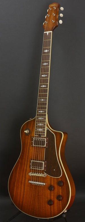 SOLD Asher 2017 Electro Sonic 35th Anniversary Model #975 with Hawaiian Koa and Novak PAF Pickups