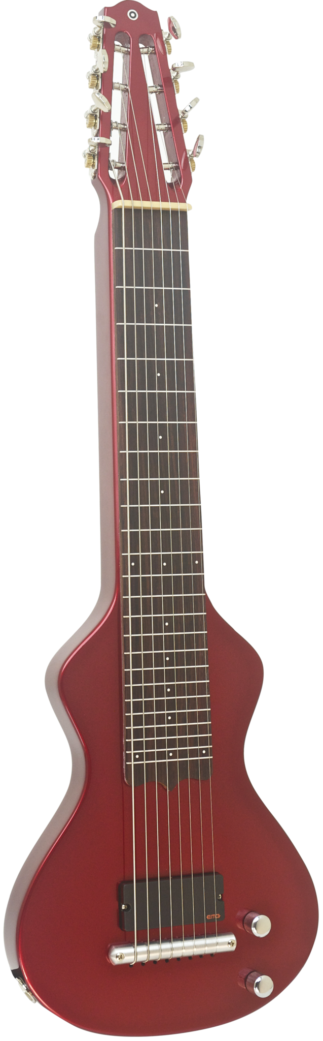 SOLD Asher 8-String Lap Steel, Candy Apple Red Poly, #872