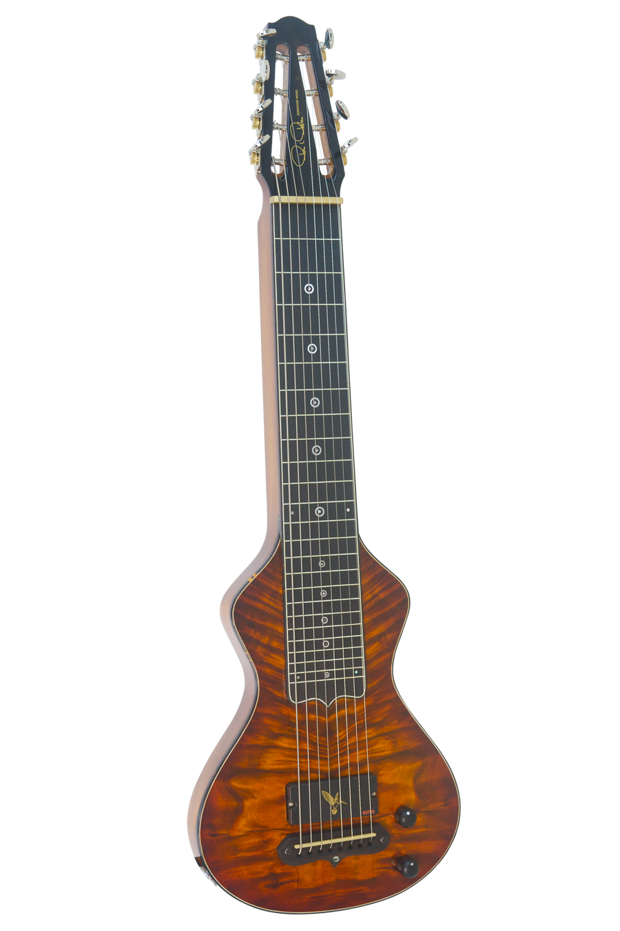 SOLD Asher Alan Akaka Signature Model 8 String Hawaiian Lap Steel Guitar