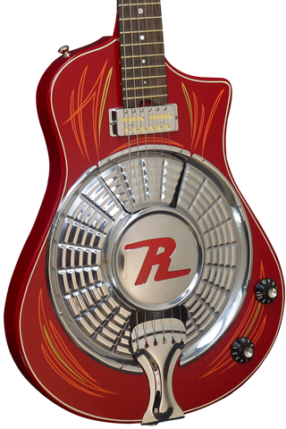 "SOLD 2016 Asher Resosonic ""Rambler"" in Dakota Red with Hand Pin Striping, #907"