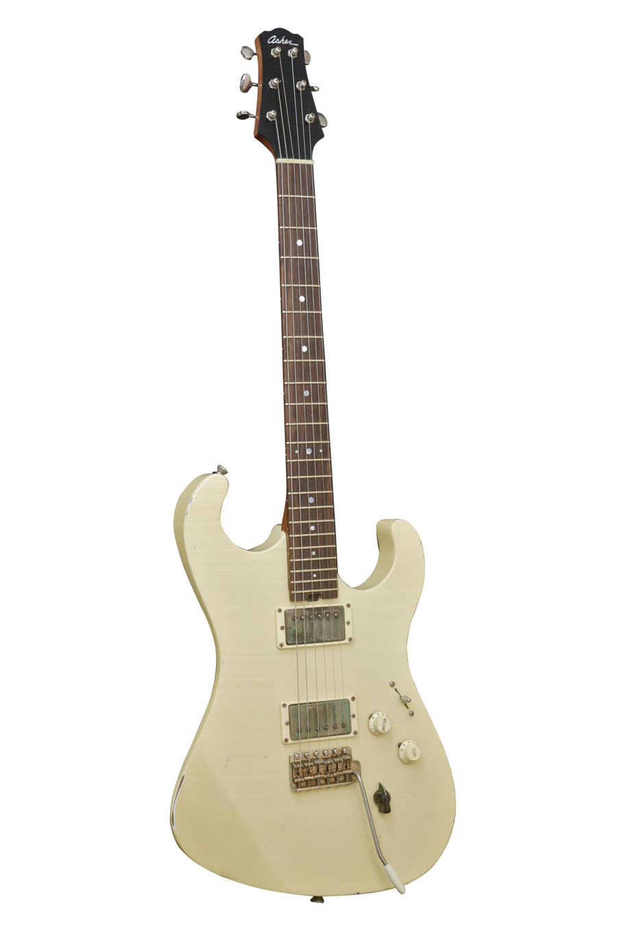 SOLD Asher S Custom Guitar in Olympic White Nitro Relic Finish, #858