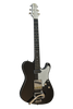 SOLD  Asher T Deluxe Guitar in Black Poly with Bigsby, #854
