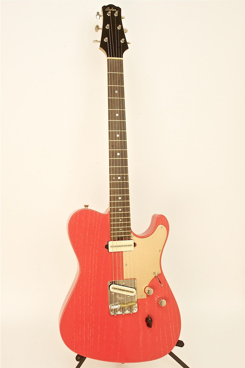 "SOLD Asher T Deluxe Guitar in Red ""Dog Hair"" Nitro Finish, s/n 781"