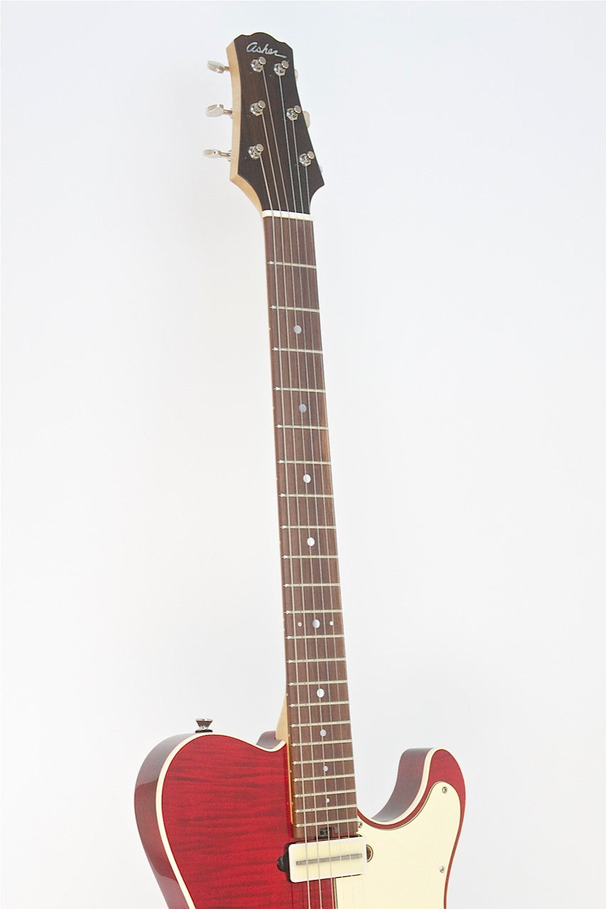 SOLD Asher T Deluxe™ Guitar, Trans Cherry Nitro with Brazilian Rosewood Detail, #704