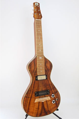 SOLD Asher Electro Hawaiian® Model I Koa Lap Steel with Gold Foil Pickups, s/n# 770