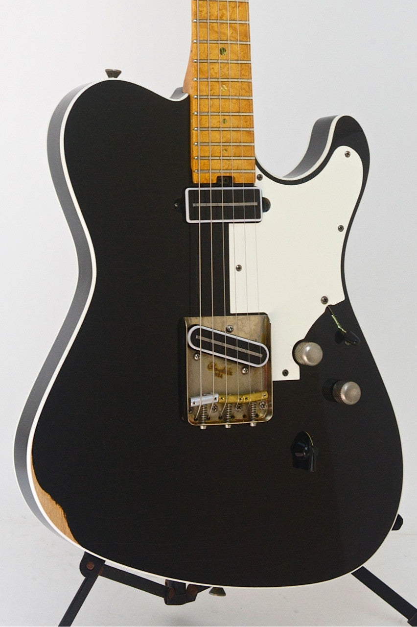 SOLD 2014 Asher T Deluxe™ Guitar, Relic Black Nitro
