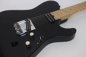 SOLD Asher 2014 T Deluxe™ Guitar, Black Nitro, #796 - Slightly Blemished