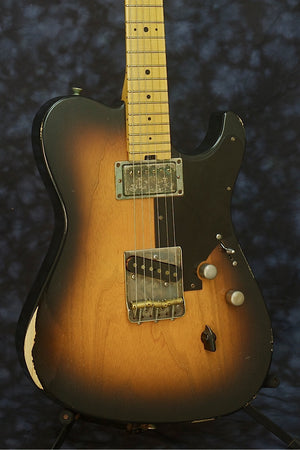 SOLD 2014 Asher T Deluxe™ Custom Guitar, Relic Two-Tone Nitro Burst, #801