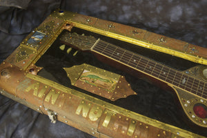 SOLD Voodoo Lap Steel - Asher Lap Steel Embellished by Artists Don Moser