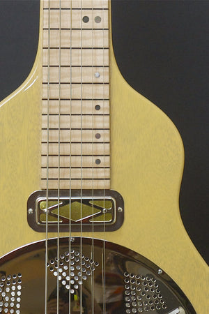 SOLD Asher Reso Steel Lap Steel, 6 string, Butterscotch Nitro, #889