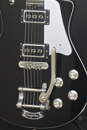 SOLD Asher 2016 Electro Sonic Neck Thru - Black Beauty with Bigsby #909