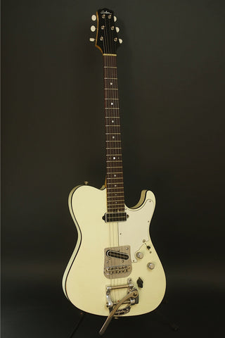 SOLD  Asher 2013 T Deluxe™ Guitar, Relic Olympic White w/ Bigsby, #737