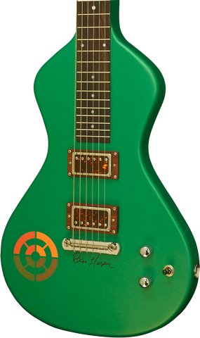 "On HOLD ""Signed"" Asher Ben Harper and the Innocent Criminals *Custom* Special Edition Lap Steel, Rasta Green"
