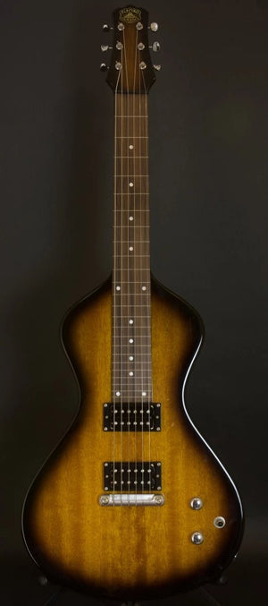 2 LEFT!  NEW Asher Electro Hawaiian® Junior Lap Steel Tobacco Burst - IMPROVED quality, components and tone!