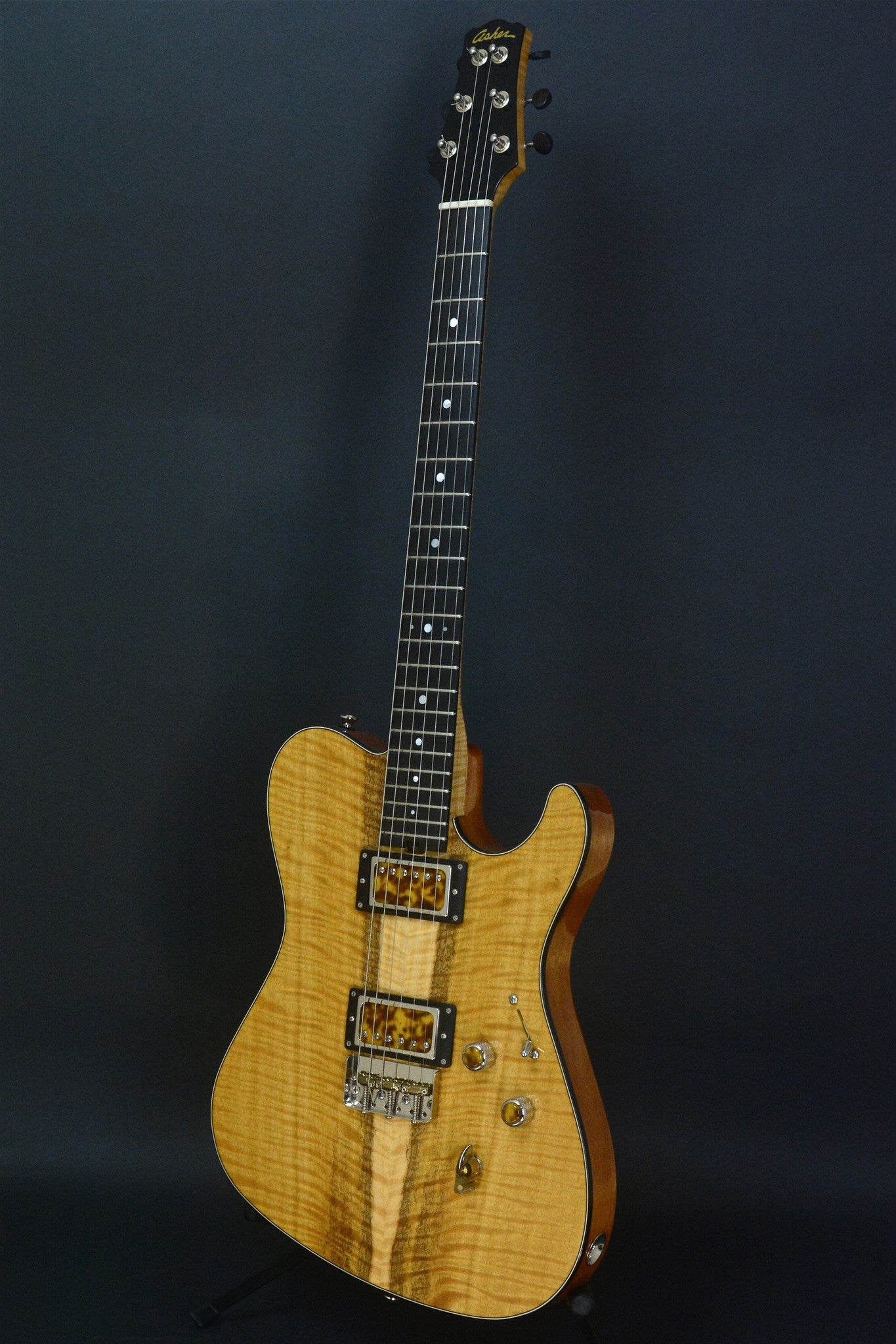 SOLD 2017 T Deluxe Master Series, Bound Flame Satinwood, Lollar Pickups  with Custom Covers #973