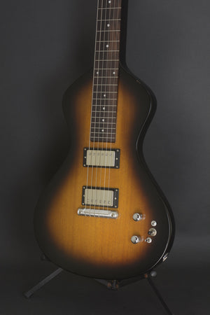 "SOLD 2018 ""Suped Up"" Asher Electro Hawaiian® Junior Lap Steel Guitar with Lollar Imperial Humbuckers  - Tobacco Burst"