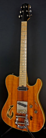 2012 T Deluxe Bound Flame Koa Top with Custom Fish Hook F Hole and Bigsby,  #710