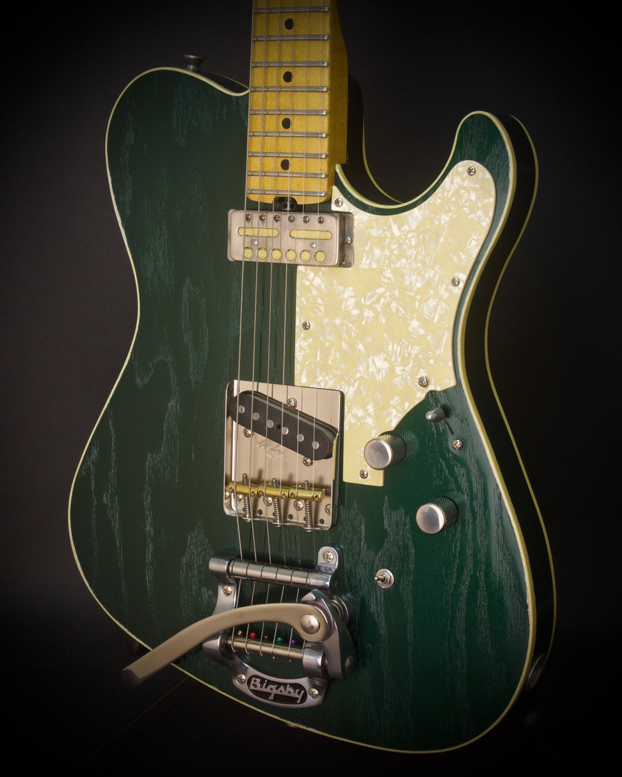 "SOLD 2018 NEW ""Studio Series"" T Deluxe w/ Bigsby, Satin Metallic Derby Green, #1071"