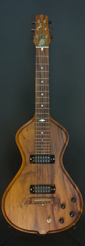 SOLD 2018 Electro Hawaiian Model I Reclaimed Koa Table c. 1970 Lap Steel W/ Pineapple Hummingbird Inlay, #1039
