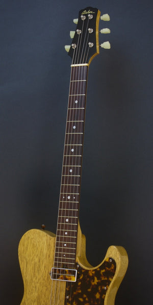 SOLD 2018 Asher T Deluxe Master Series Korina with Tortoise Details, #1081