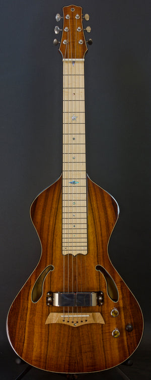 SOLD 2018 Asher Dual Tone Semi Acoustic Lap Steel Guitar with Vintage 60s Horseshoe magnet and Asher Coil, #1051