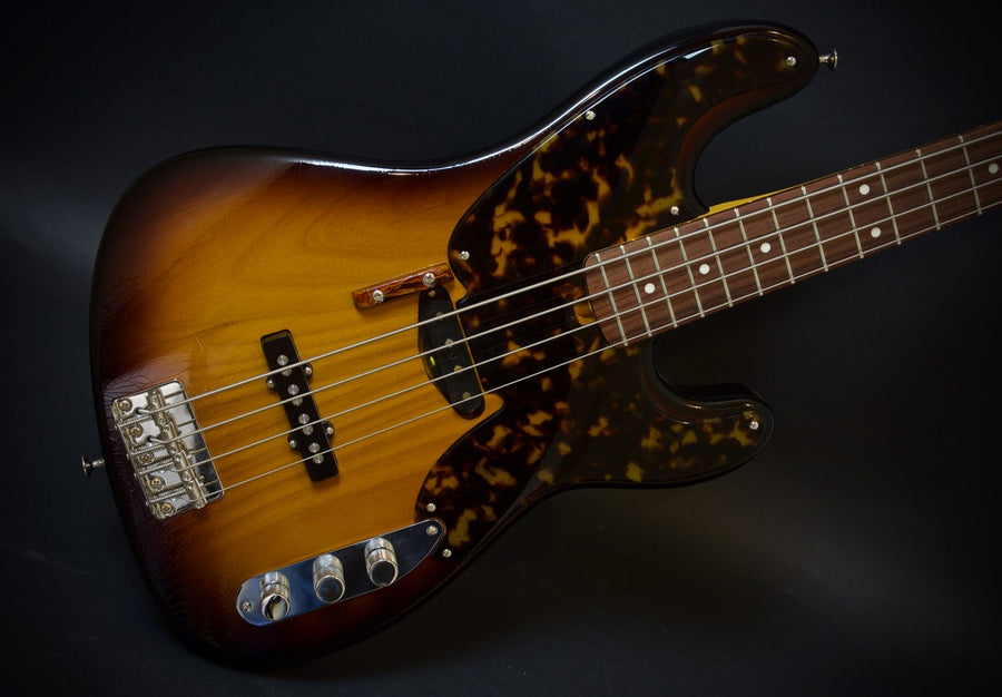 SOLD 2018 Asher #1080 Tele Jazz Bass Tobacco Burst Nitro Relic
