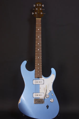 SOLD 2019 Asher Marc Ford Signature Model Guitar in Lake Placid Blue Relic Nitro with Matching Back Stage Pass