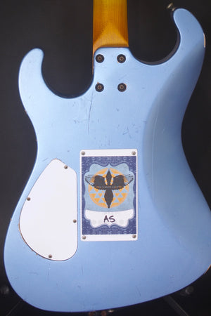2019 Asher Marc Ford Signature Model Guitar in Lake Placid Blue Relic Nitro with Matching Back Stage Pass