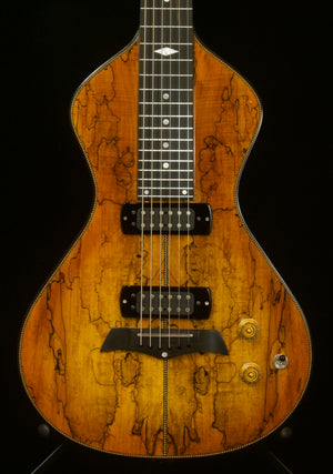 SOLD 2020 Asher Electro Hawaiian Model I Superior Top - Bound Spalted Maple Top Over Ash $3750.00