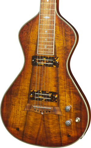 SOLD  Asher 2016 Electro Hawaiian Model I Lap Steel Guitar, Stunning Koa #913