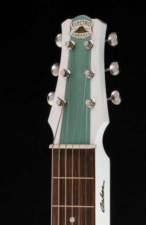 "SOLD Asher 2016 Electro Hawaiian Model I Lap Steel Guitar #939  Metallic Sage ""Shelby"""