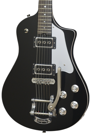 *SOLD* Asher 2016 Electro Sonic Neck Thru - Black Beauty with Bigsby #909