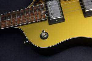 SOLD 2017 Electro Sonic Gold Top #1026, Blues Bucker Pickup Set with Custom Face Plates, Custom Details
