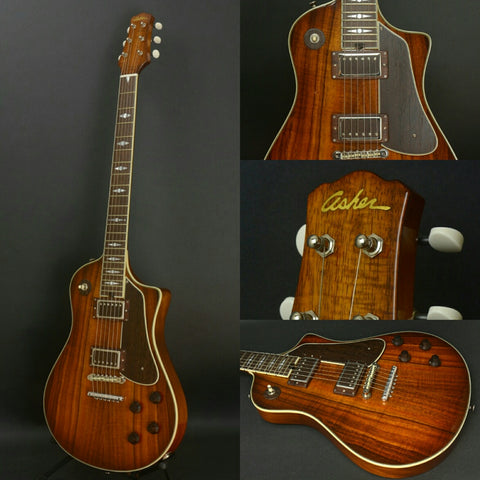 Asher 2017 Electro Sonic 35th Anniversary Model #975 with Hawaiian Koa and Novak PAF Pickups