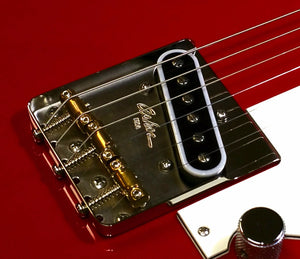 Asher Vintage Style Compensated Tele Bridge, Cold Rolled Steel Base Plate with Brass Saddles