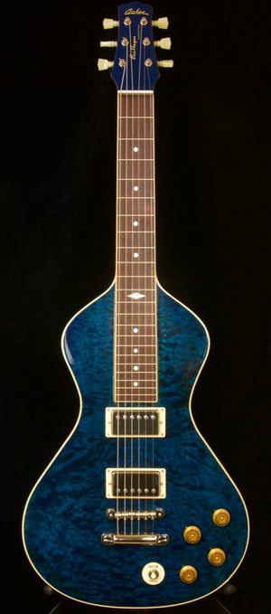 2019 Asher Ben Harper Signature Model Lap Steel - Quilted Maple Top with Blue Stain