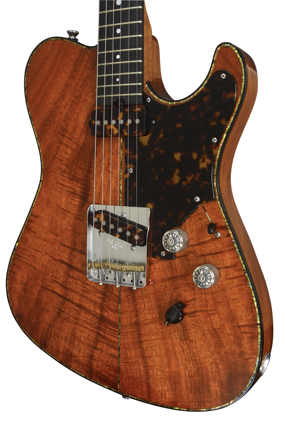SOLD 2017 T Deluxe Master Series Hawaiian Koa Top, Abalone Trim, #948