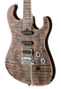 SOLD Asher S Custom Guitar #946 Faded Black over Flame Maple Top, Neck and Board