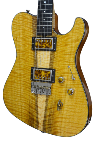 2017 T Deluxe Master Series, Bound Flame Satinwood, Lollar Pickups with Custom Covers #973