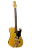 SOLD Asher T Deluxe Gold Top with Black Back and Sides -  with Bigsby B5, #869
