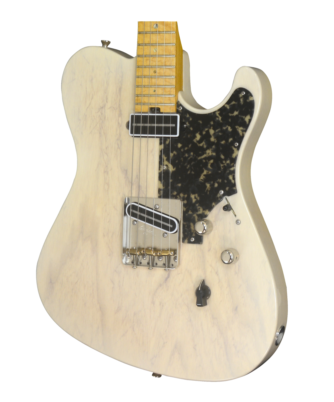 SOLD 2017 Asher T Deluxe Trans Ivory with Black Tortoise Pick Guard #1014
