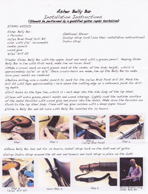 Asher Belly Bar Kit Upgrade for Electro Hawaiian® Junior Lap Steel