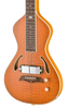 SOLD Asher Dual Tone #951 Semi-Acoustic Lap Steel with Flame California Redwood Top and Horseshoe Pickup